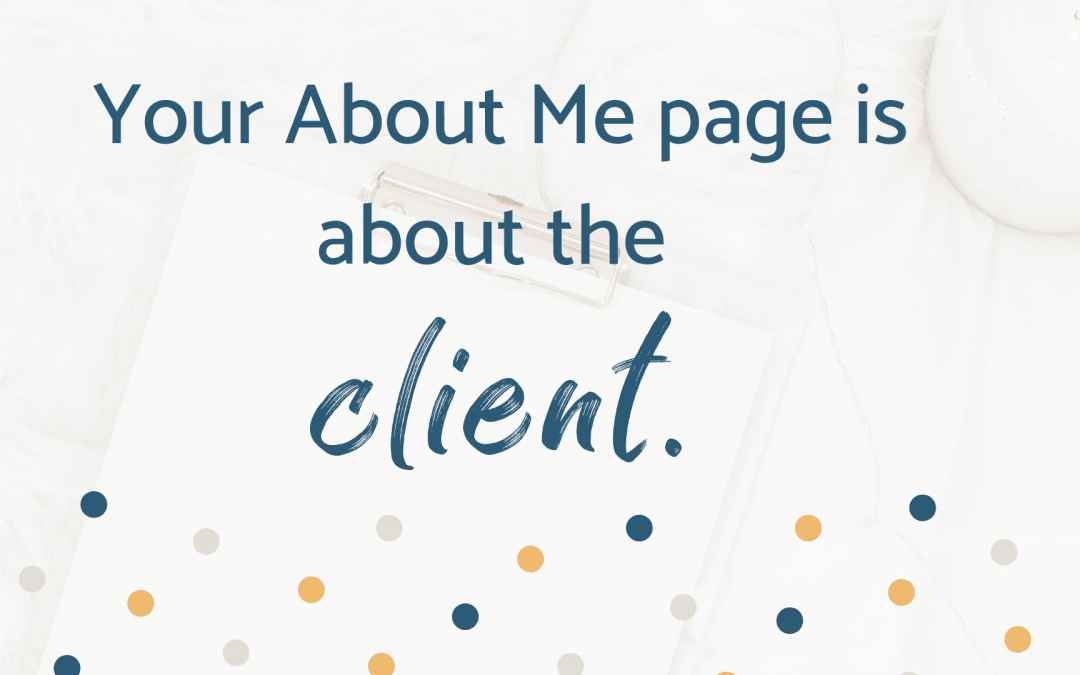 Write a Killer About Me Page for Your Therapist Website